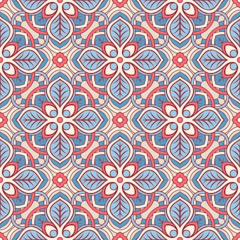 Pink and blue floral pattern