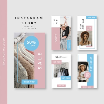 Pink blue instagram story