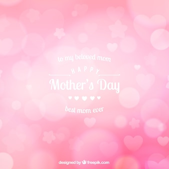 Pink blurred background for mother's day
