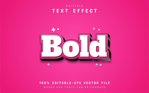 Pink bold text effect