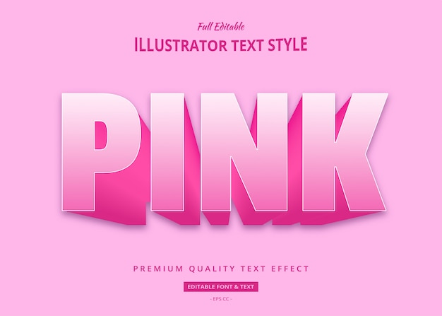 Pink bold text style effect