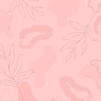 ピンクの植物模様の背景