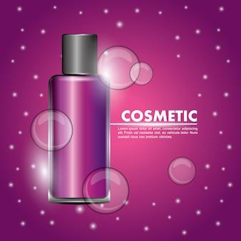Pink bottle gel body skincare cosmetic