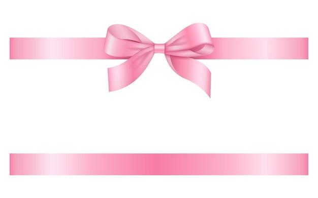 Розовый бант и лента