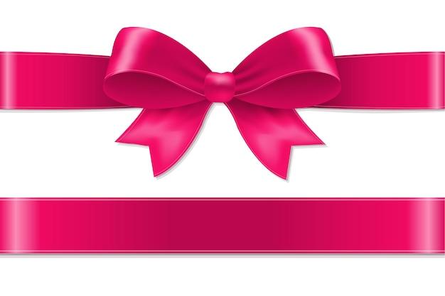 ピンクの弓