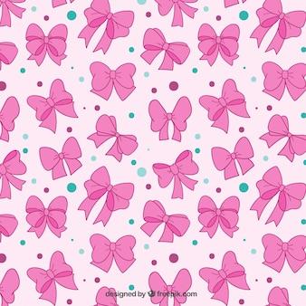 Pink bows pattern