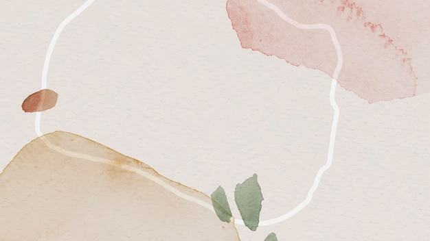 Pink and brown watercolor patterned background template