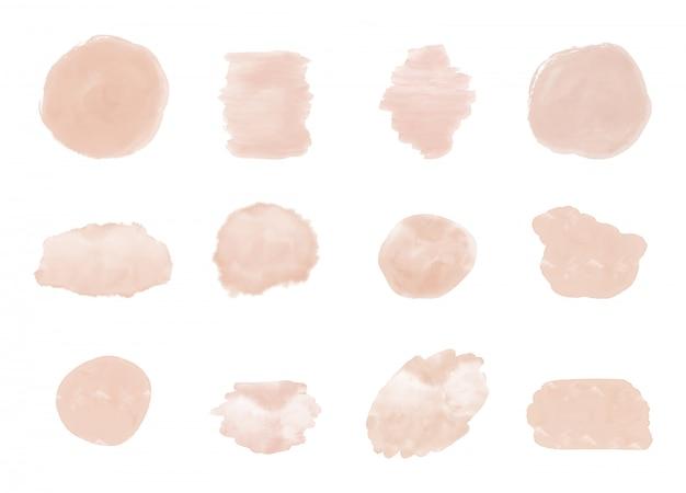 Розовая кисть инсульта акварель текстуры. брызги клипарт. абстрактные смывки.