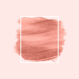 Pink brush stroke
