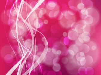 Pink bubble fantasy curl background