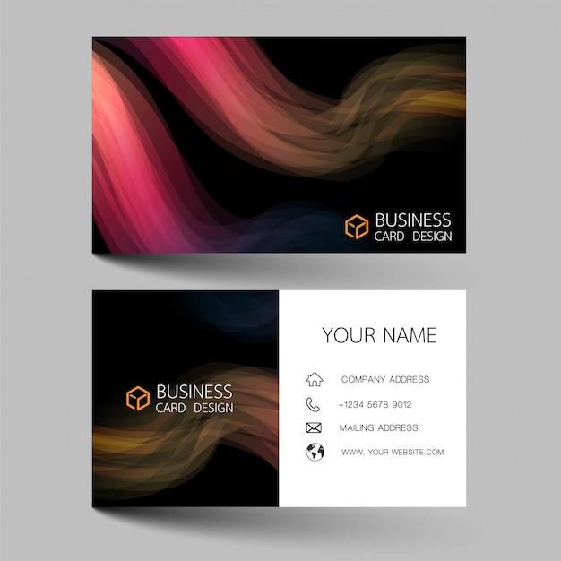 Pink business card template design.