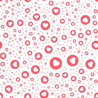 Pink button heart in circle button for expressing social emoji