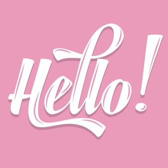Pink calligraphic  hello