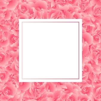 ピンクカーネーションフラワーバナーカード