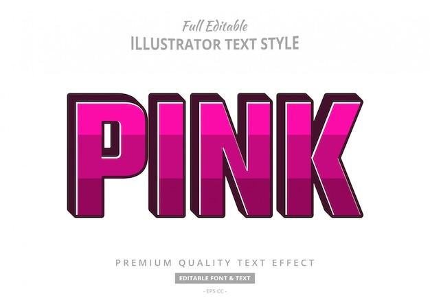 Pink cartoon 3d text style effect