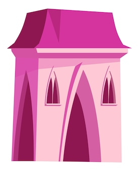 Pink castle for fairy princess