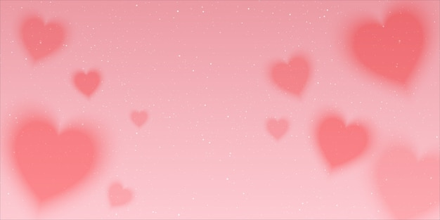 Pink chasing space background full of hearts love and stars