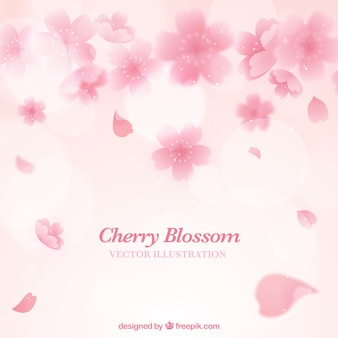 분홍색 벚꽃 배경