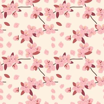 Розовый cherryblossom бесшовные модели.