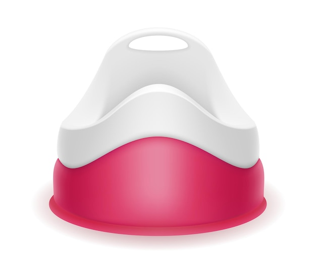 白地にピンクの子供用トイレ