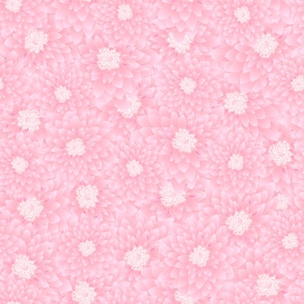 Pink chrysanthemum seamless background