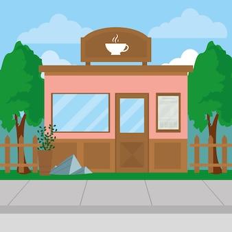 ピンクのコーヒー店