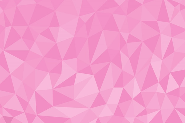 Pink color abstract polygon background