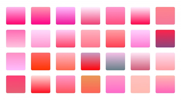 Pink color gradients big set background