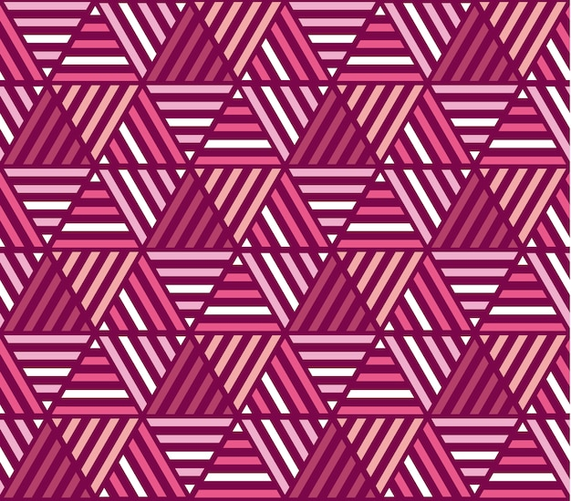 Pink color stripes seamless pattern. vector illustration of mosaic repeatable ornament