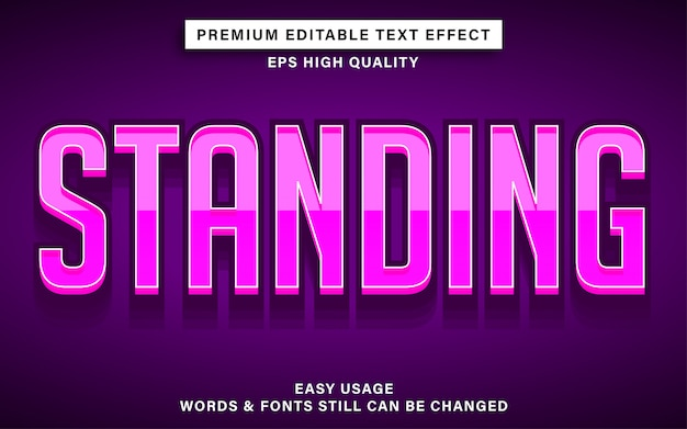 Pink color text effect