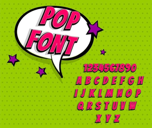 Розовый комикс поп-арт супергерой шрифт