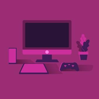 Pink computer