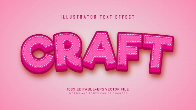 Pink craft  text style effect