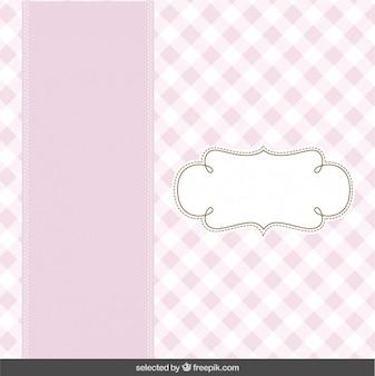 Pink cute card