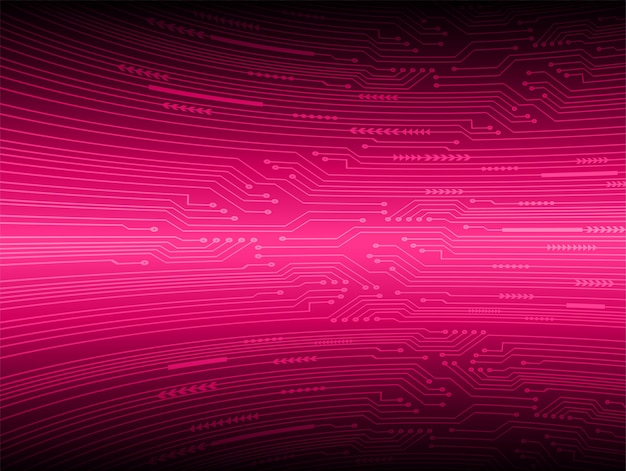 Pink cyber circuit future technology concept background