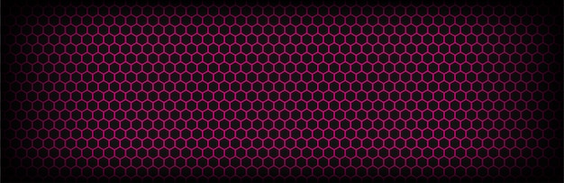 Pink and dark grey with hexagonal background