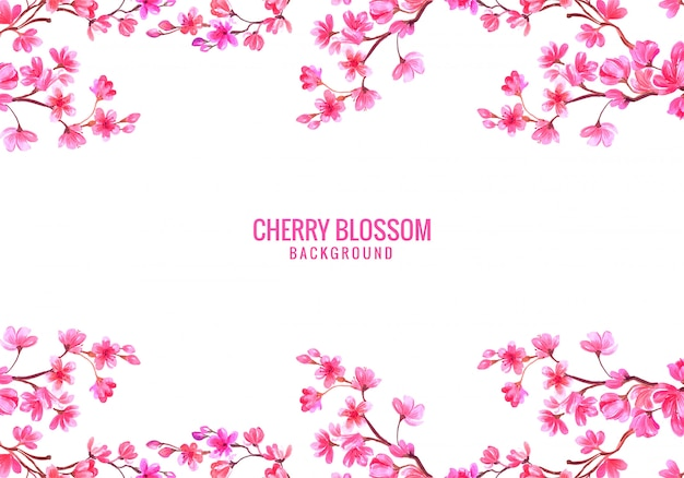 Pink decorative cherry blossom background
