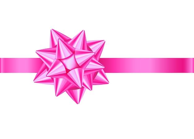 핑크 장식 선물 리본과 활 여성 어머니의 날 결혼식 장식