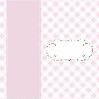 ピンクの繊細なテンプレートの背景