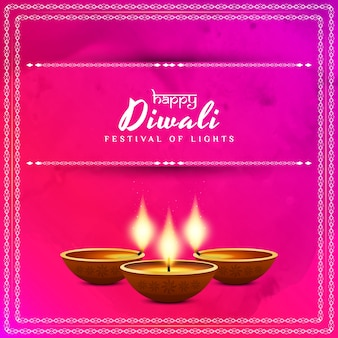Pink diwali design