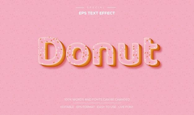 핑크 도넛 텍스트 효과