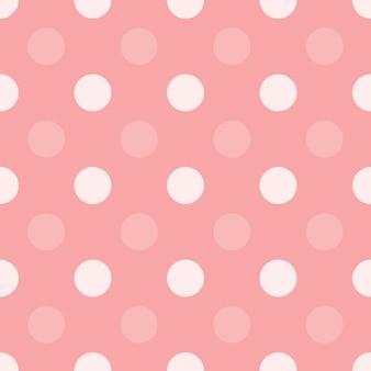ピンクのドットハーフドロップ繰り返しシームレスパターン背景