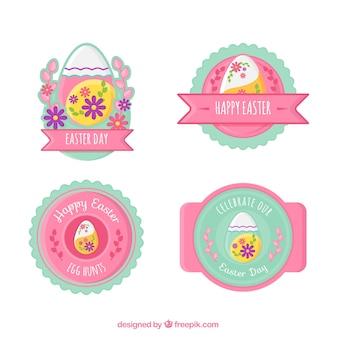ピンクのイースターラベルコレクション