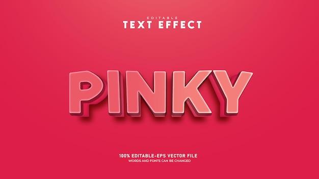 핑크 편집 가능한 3d 텍스트 효과 프리미엄 벡터