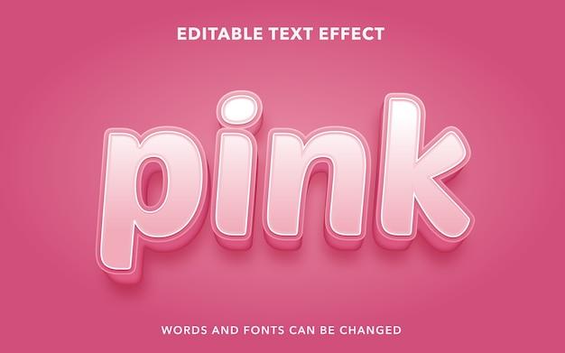 Розовый редактируемый текстовый эффект стиль