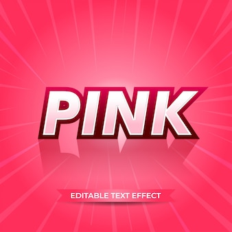 Pink editable text effect