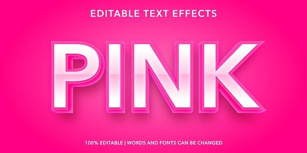 ピンクの編集可能なテキスト効果