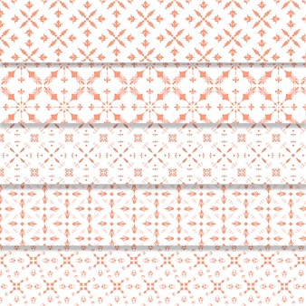 Pink elements pattern background