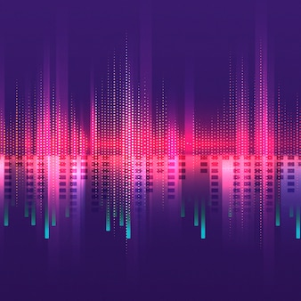 Pink equalizer pattern background vector