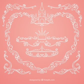 Pink fairytale background